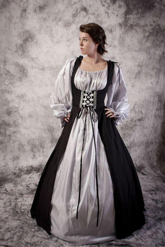 Bodice Dress Gown Renaissance Medieval Costume.