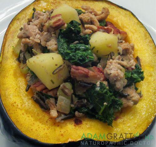 Recipe - Wild Rice and Turkey Stuffed Acorn Squash