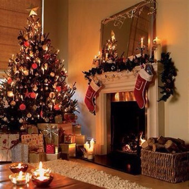 Christmas Tree Fireplace Decor Christmas Tree Themes