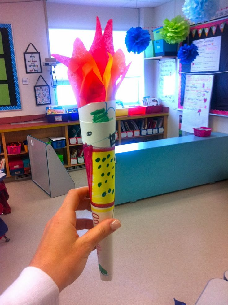 Olympic torch craft | Crafty Things | Pinterest