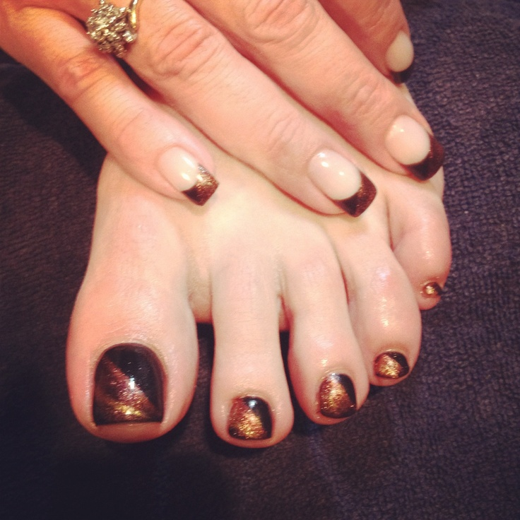 Gel nails and toes | Gel nails | Pinterest