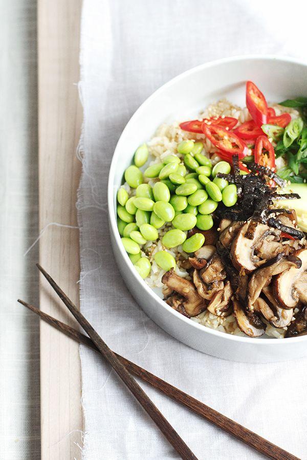 mushroom shichimi rice bowl recipes dishmaps mushroom shichimi rice ...