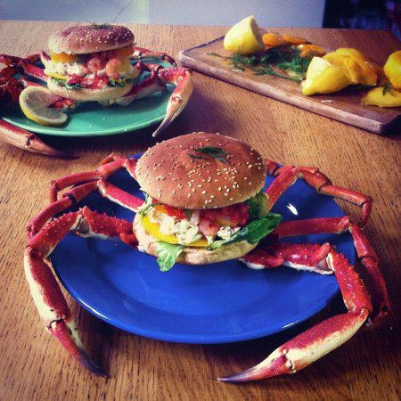 Crab Burgers #FoodRepublic | delish | Pinterest