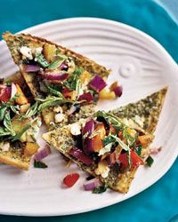Chickpea Panelle with Goat Cheese and Salsa Rustica Recipe on Food ...