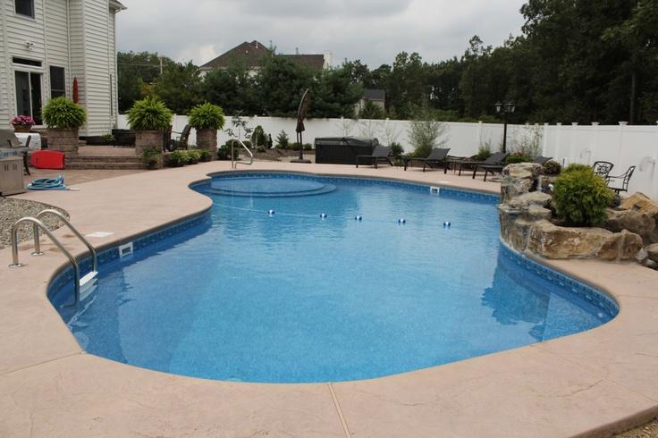 Pool Town Luxury Pools Inground Vinyl Pools Pinterest