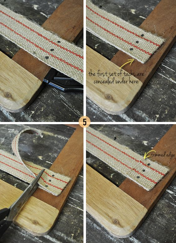 How to upholster a loose seat chair pad use for old oak dining chair