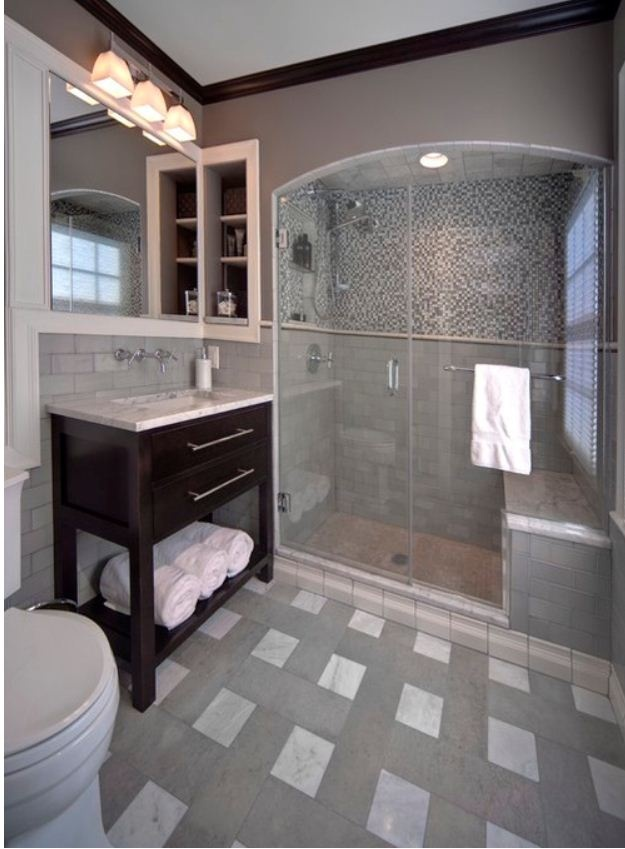 Gray Bathroom Bathroom Remodel Pinterest