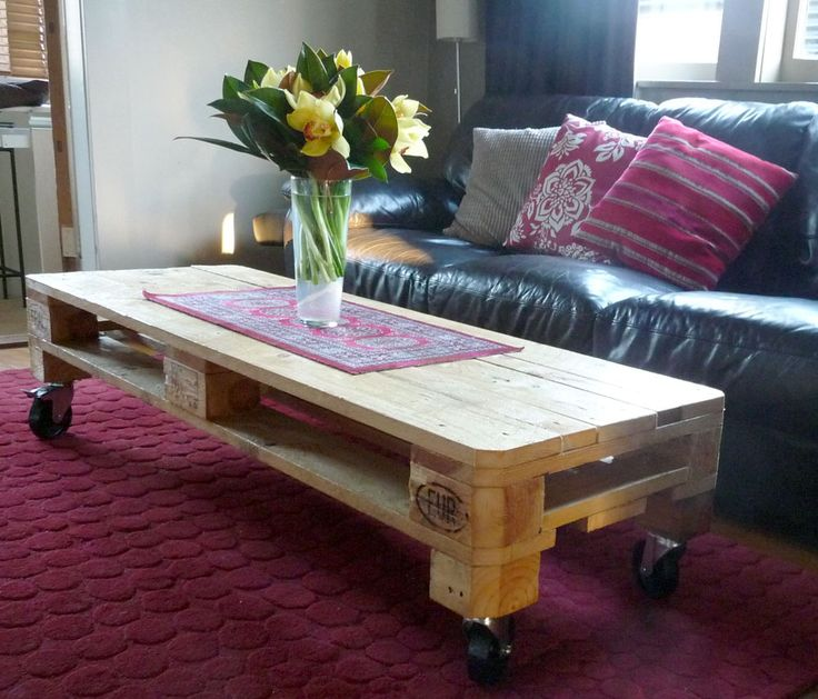 Long Skinny Coffee Table Pallet Furniture Pinterest