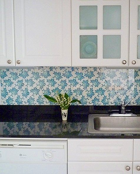 backsplash solution for rental kitchens fabric under plexiglass