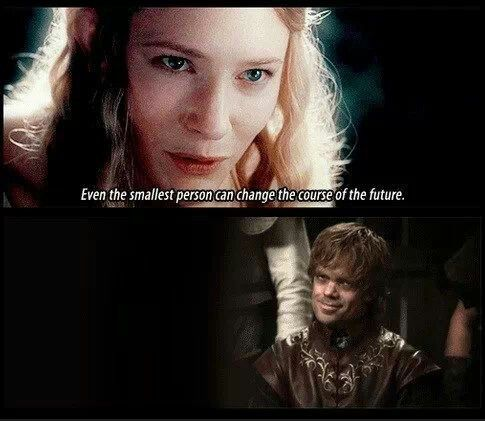 game of thrones lord of the rings similarities