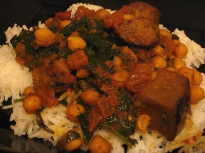 Baked Gingered Chickpea Stew with Eggplant and Spinach | mmm ...