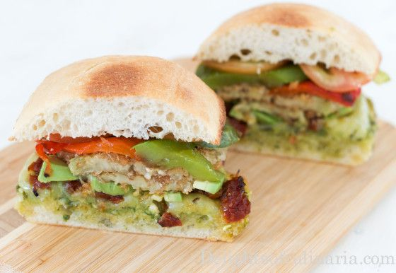 eggplant and pepper sandwich recipes dishmaps pepper and tangy goat ...