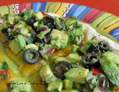 For the Love of Cooking » Avocado and Olive Quesadillas