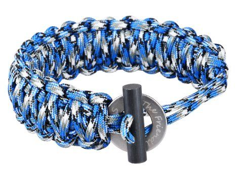 The Friendly Swede Adjustable Premium Paracord Bracelet with Fire ...