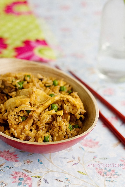 Fried brown rice with Shiitake mushrooms. Beautiful photos & the ...