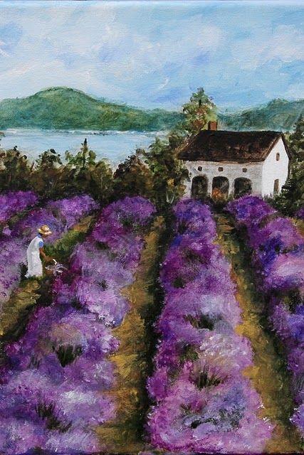 Lavender  Image detail for -Winner of the 2011 Finger Lakes Lavender Festival Art Contest