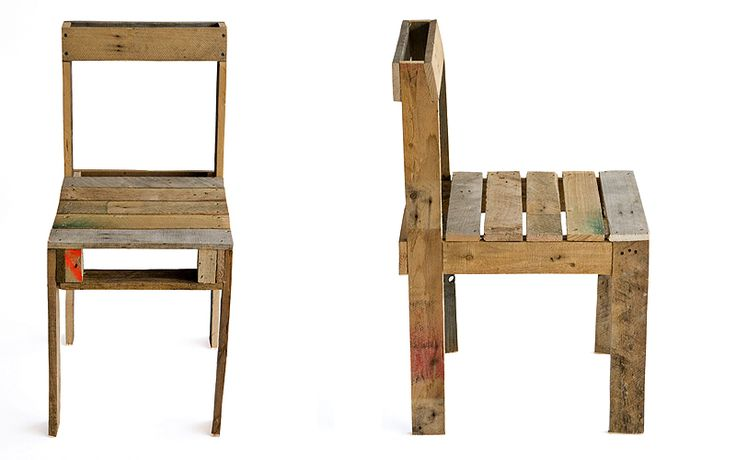 Pallet Chair--make a chair out of a pallet!