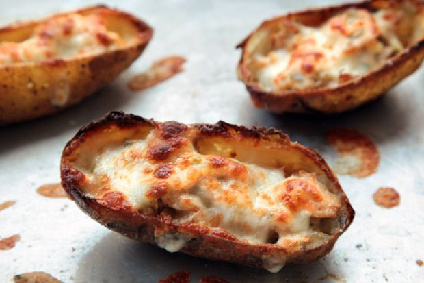 Tuna Melt Potato Skins by Chow. Diner-style tuna melts feature a ...