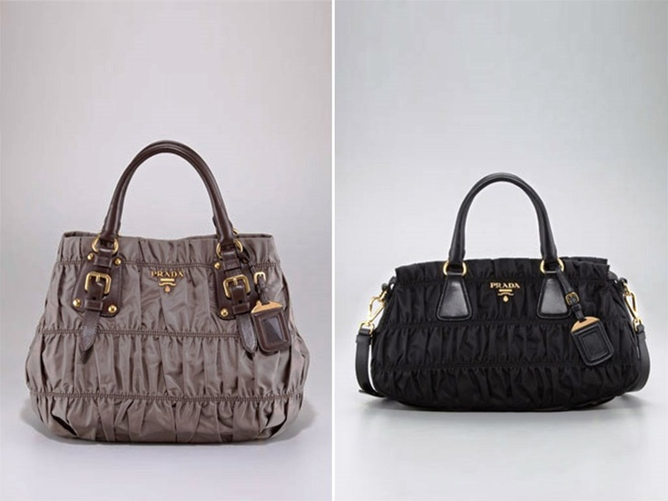 Prada Brown Tessuto and Black Nylon Gaufre