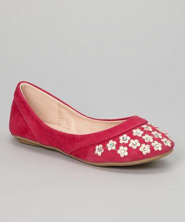 found on #zulily! Fuchsia Blossom Mina Flat by Anna Shoes #zulilyfinds