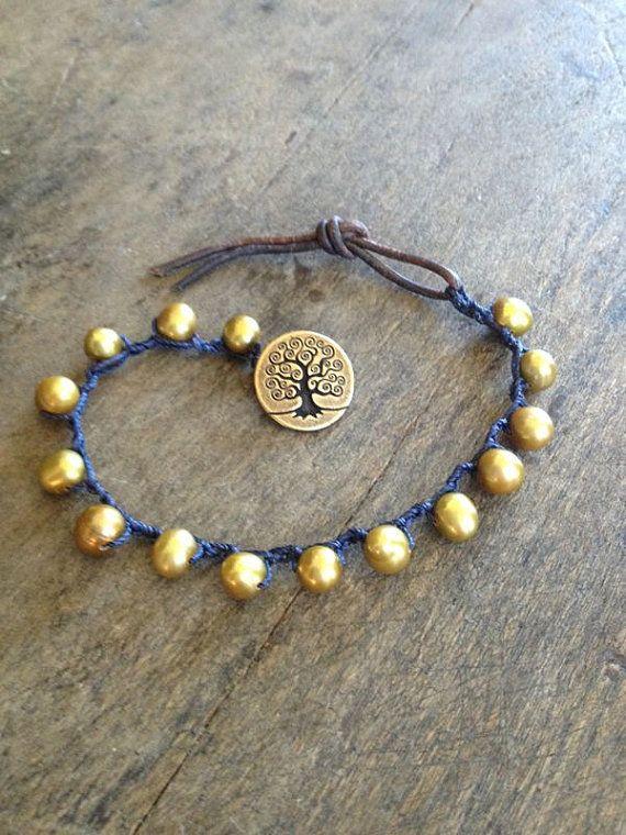simple crochet and beaded bracelet guus jewelry