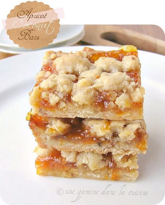 Apricot Coconut Bars - made these tonight and they were yummy and ...
