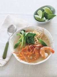 Coconut- Lime Shrimp Soup - no noodles, organic wheat free tamari for ...