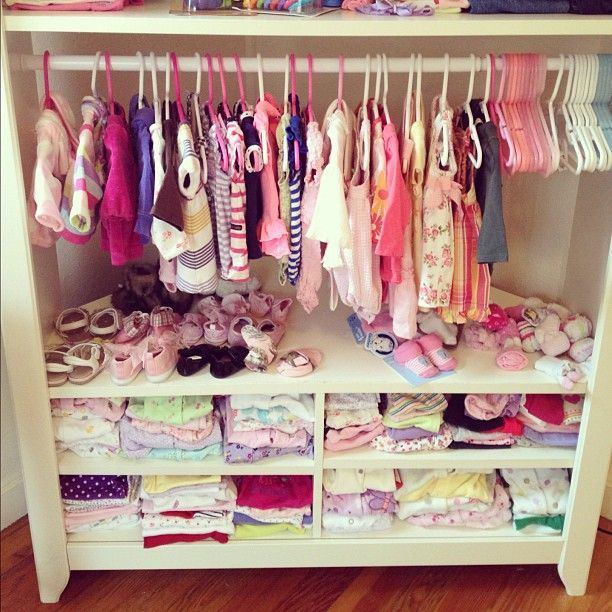 Stand turned baby clothing storage i should do this for extra closet