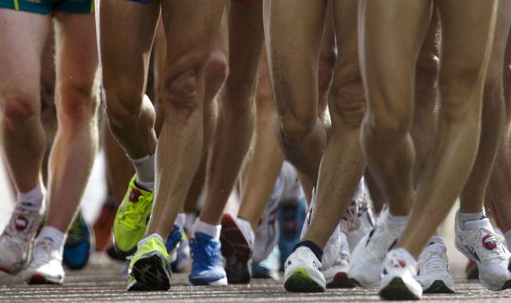 Atletas en la prueba de 20 kilómetros marcha.