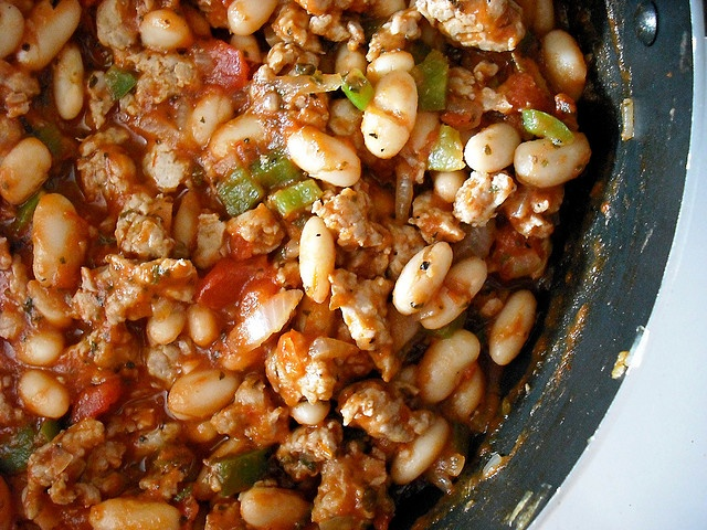 Italian sausage and white bean stew... by adashofsass, via Flickr...