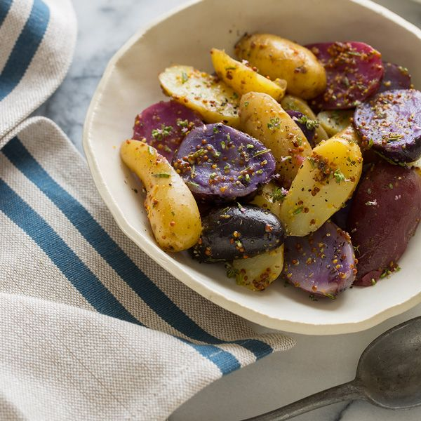 Warm German Fingerling Potato Salad | side kicks. | Pinterest