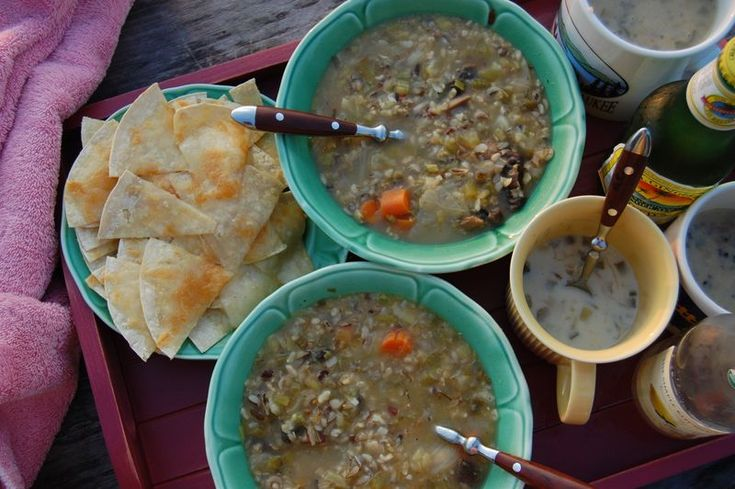 Rustic Lentil Soup + Quesadillas In a pot throw 2 handfuls of wild ...