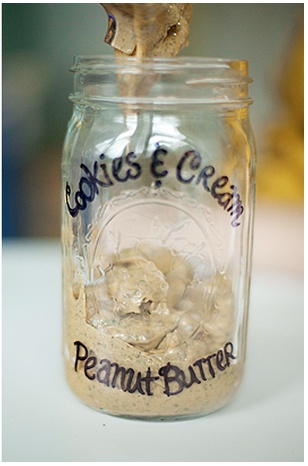 DIY Cookies 'n' Cream Peanut Butter is great on ice cream, sandwiches...