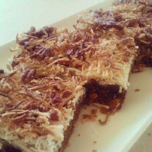 Vegan Choco Coconut & Pecan Bars | Sweet Stuff | Pinterest