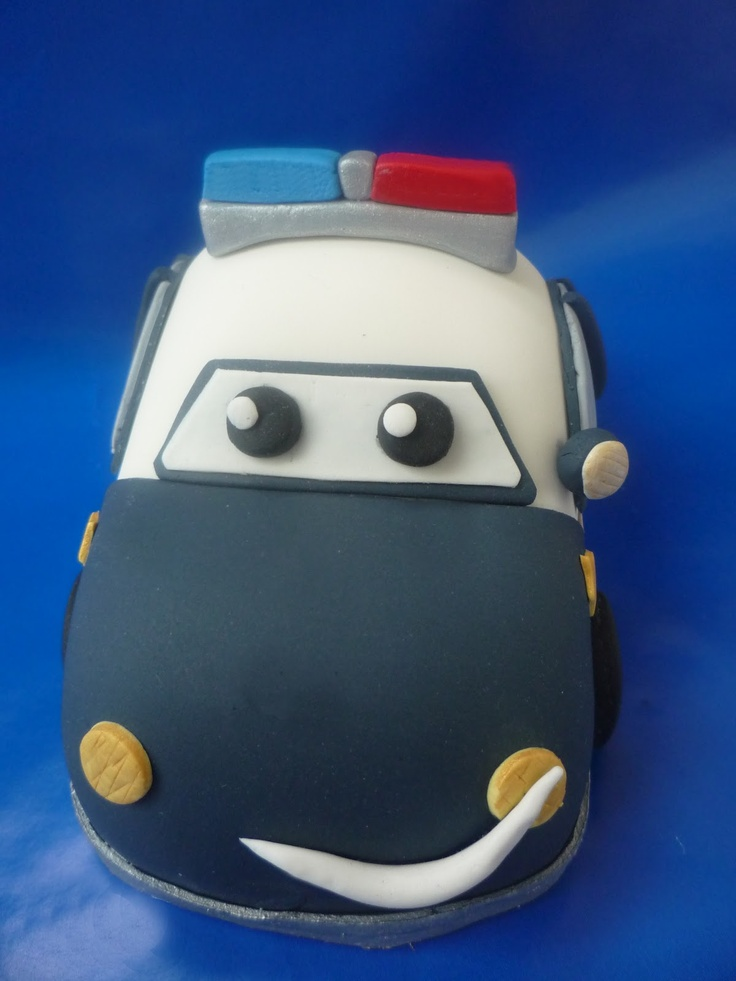 Police Car Cake Tutorial Police Car Tutorial by Liz