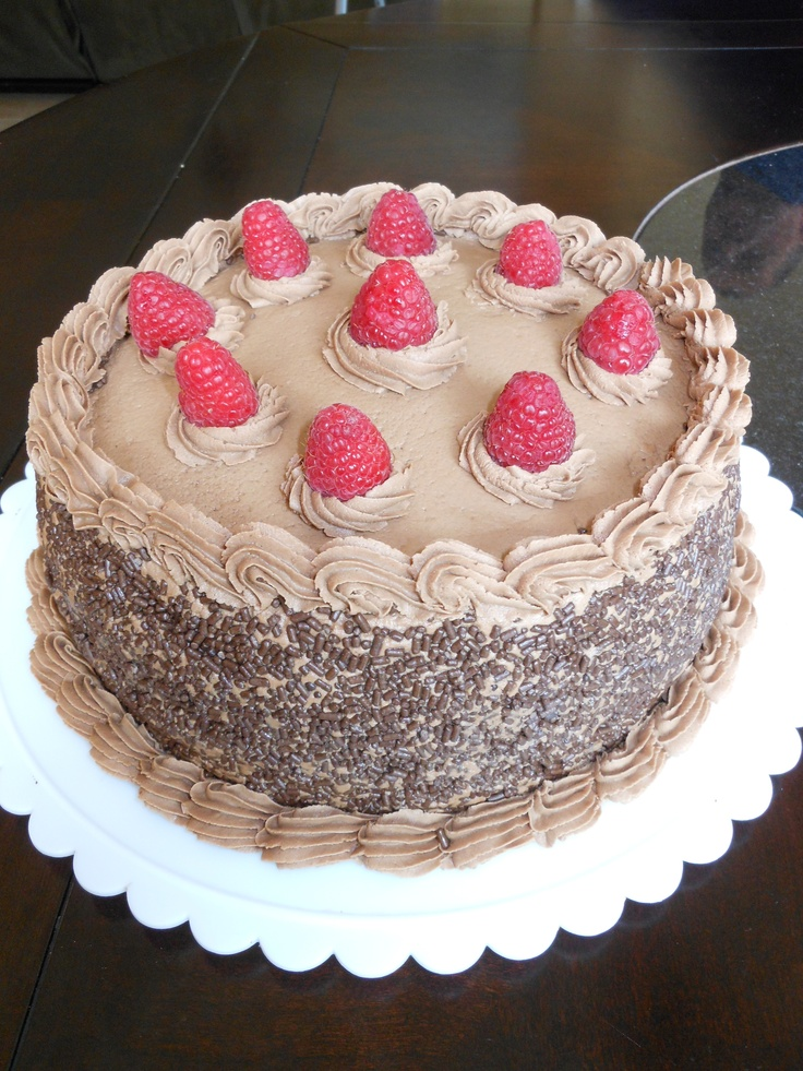 Chocolate Raspberry Layer Cake | My Baking Projects | Pinterest