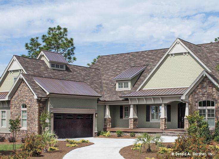 It 39 s here full album of the sagecrest plan for Metal roof craftsman home