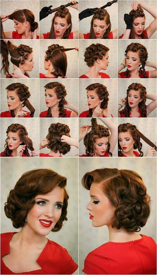 Прически на средние волосы в стиле стиляги