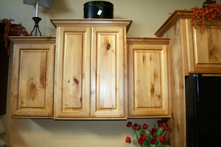 Cabinets rustic knotty alder natural for the home for Cheap rustic kitchen cabinets