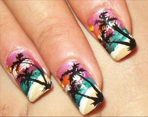 beach nail design | Nail Designs & Colors | Pinterest
