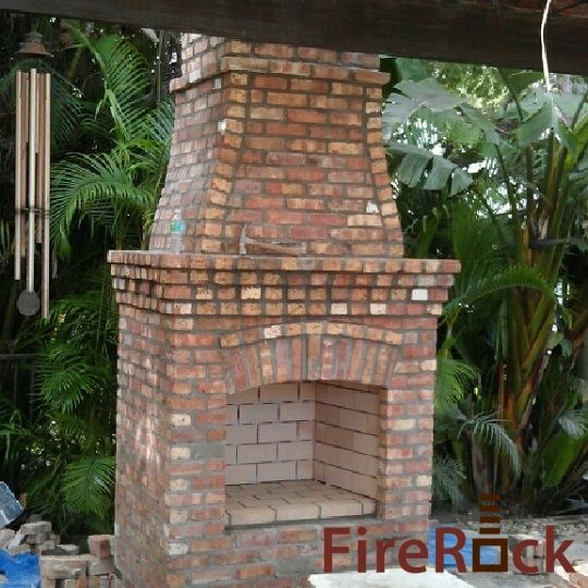 FireRock Outdoor Fireplace Kit Outdoor Pinterest