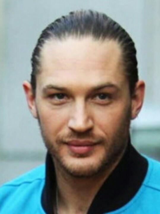 Tom Hardy + slicked ha...