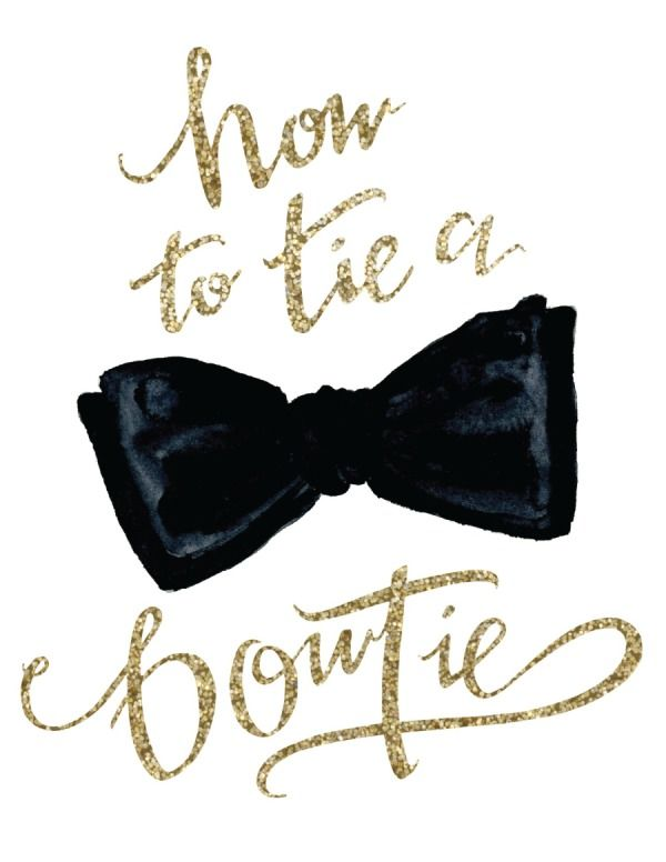 How to Tie a Bow Tie (or 'Tie Him Up') from Annie Dean | Style Me Pretty