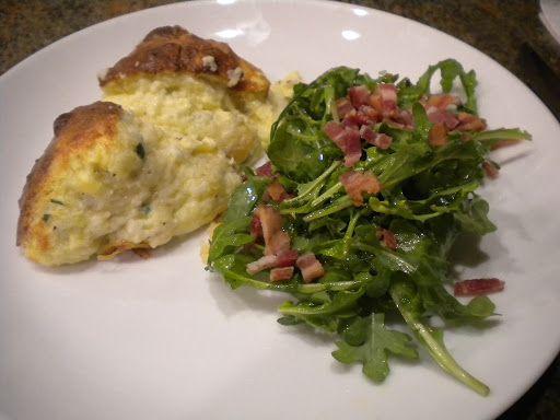 CHEESE SOUFFLE WITH BACON ARUGULA SALAD | Food - Martha Stewart Livin ...