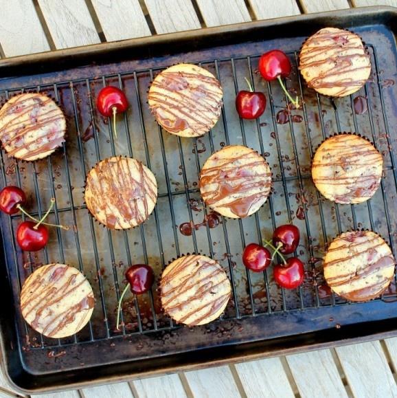 Dark Chocolate Cherry Muffins   MyCookBook   Pinterest