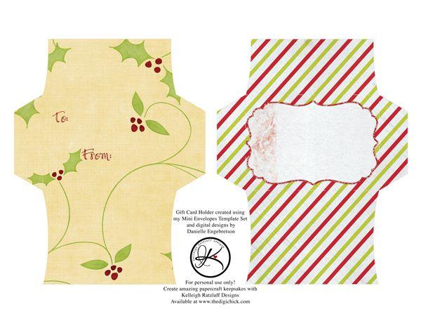Free gift card envelope printable.   Craft Ideas   Pinterest