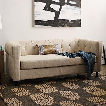 Chester Tufted Upholstered Sofa