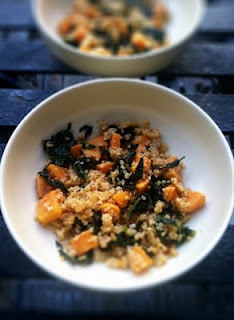 Roasted Sweet Potato & Kale Quinoa.