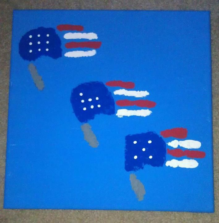 4th july handprint crafts