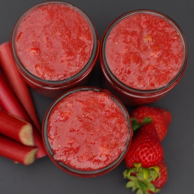 Easy Strawberry Rhubarb Freezer Jam | Ohhhhh yum! | Pinterest